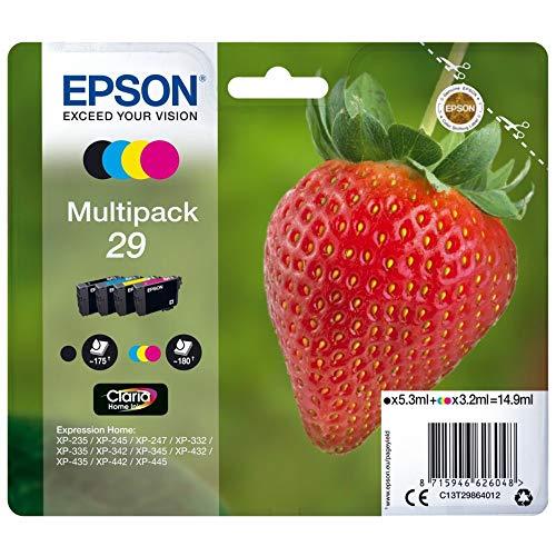 Epson C13T29864012 - Cartucho de tóner para XP235, negro, amarillo,...