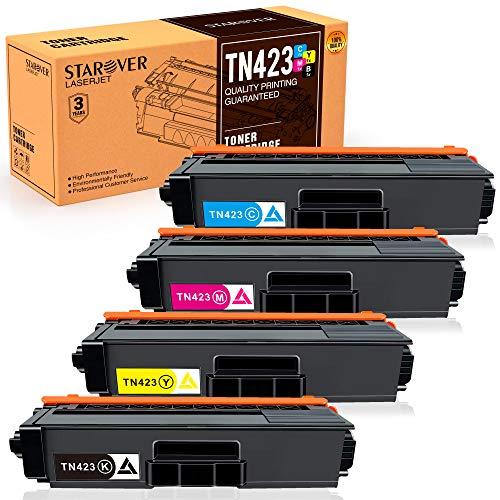 Starover TN423 TN421 Cartuchos de Tóner Compatibles para Brother TN-423...