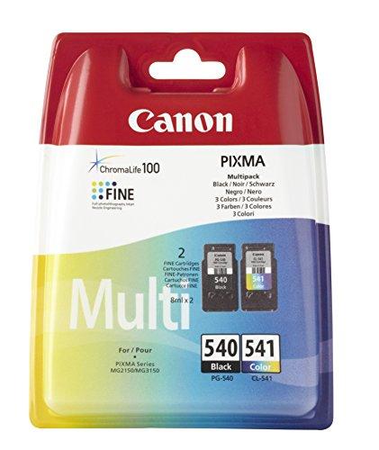 Canon PG-540+CL-541 Cartuchos de tinta original Negro y Tricolor para...