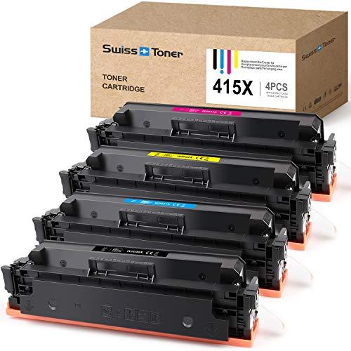 SWISS TONER Compatible para HP 415X W2030X  Sin Chip  Cartuchos de tóner...