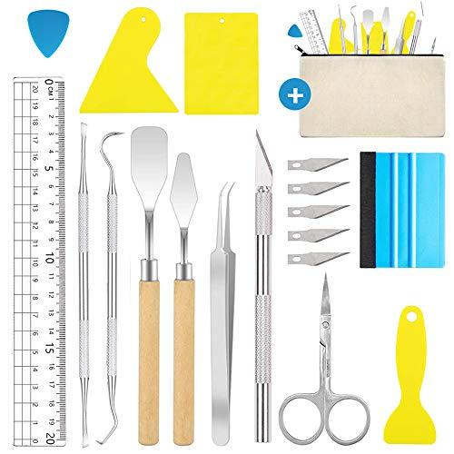 Juego de 18 herramientas de vinilo, herramientas para plóter de acero...