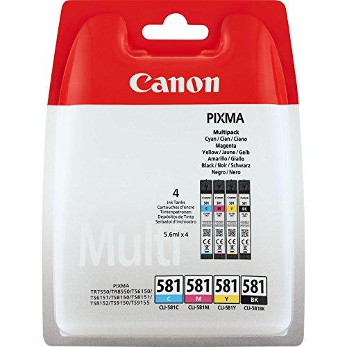 Canon CLI-581 4 Cartuchos Multipack de tinta original...
