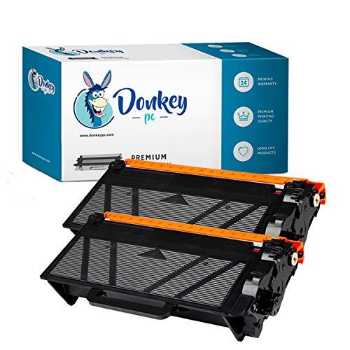 Donkey pc - 2 x Cartucho de Toner TN3480 TN-3480 TN3430 TN-3430 Compatible...