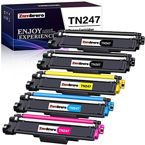 Zambrero Cartucho de Tóner Compatible Brother TN247 TN243 TN-243CMYK para...