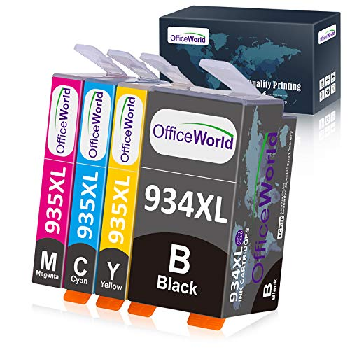 Officeworld 934XL 935XL Alta Capacidad Cartuchos de Tinta Reemplazo Para HP...
