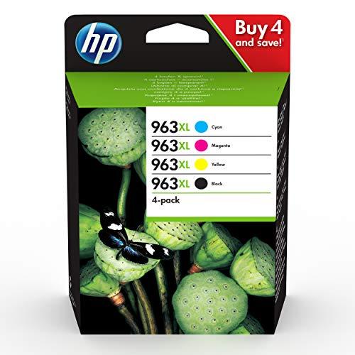 HP 963XL 3YP35AE, Pack de 4, Cartuchos de Tinta Originales de alto...
