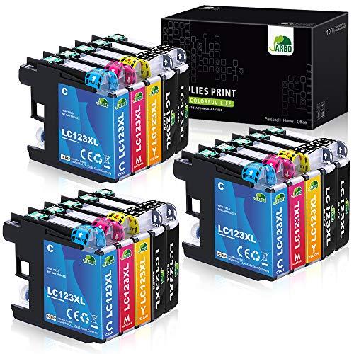 JARBO LC123XL Alta capacidad Cartuchos de tinta Reemplazo para Brother...