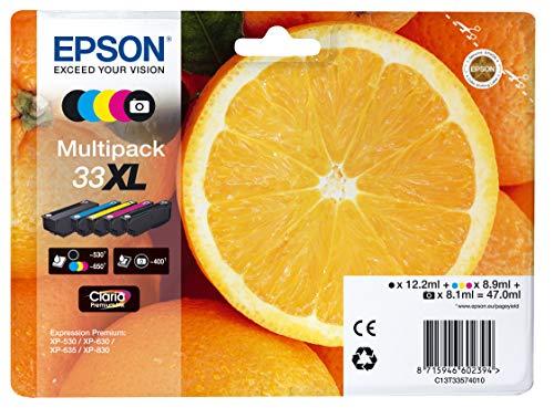 Epson C13T33574011- Cartucho de tinta para impresora, Multicolor, Paquete...