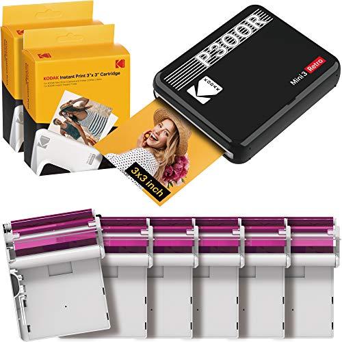 Kodak Mini 3 Retro Square Retro Impresora Fotográfica Portátil,...