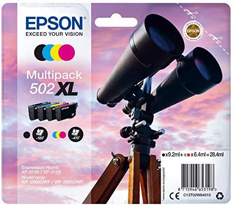 Epson binoculars multipack 4-colours 502xl black 9.2ml - cmy 6.4ml...