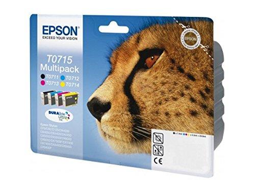 Epson T0715 - Pack cartuchos de tinta (4 colores) Stylus SX610FW, SX600FW,...