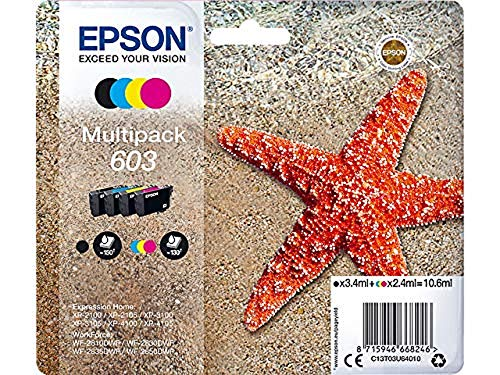 Epson Multipack 4 Colores 603 | Tinta Original | Cartuchos para Impresoras...