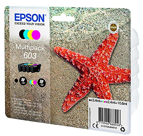 Epson Multipack 4 Colores 603 | Tinta Original | Cartuchos para: Expression...