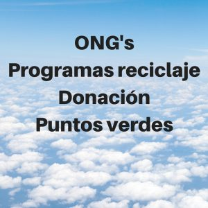 ONGsProgramas reciclajeDonaciónPuntos verdes