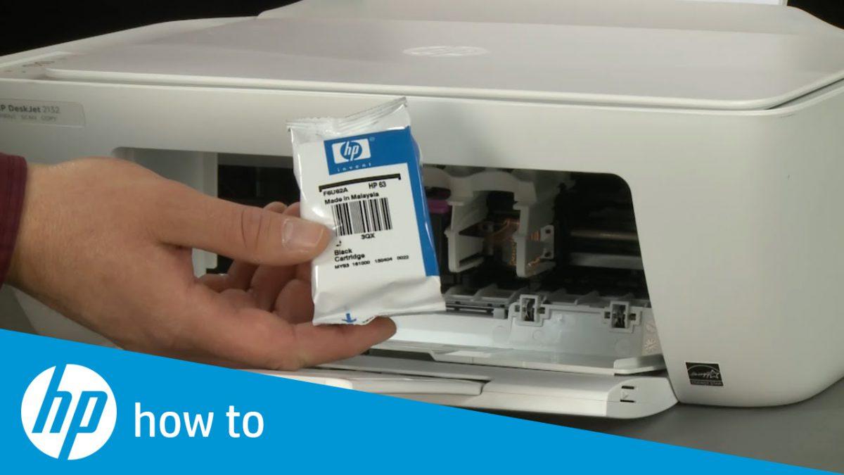 como cambiar un cartucho de tinta hp