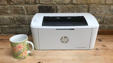 impresora HP Pro M15W tamaño muy pequeña