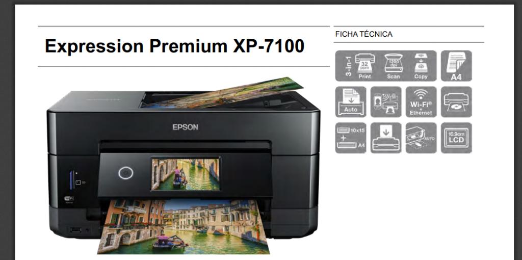 Epson Expression Premium XP-7100 características