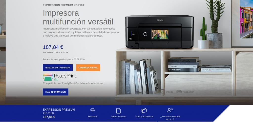 Epson Expression Premium XP-7100 precio