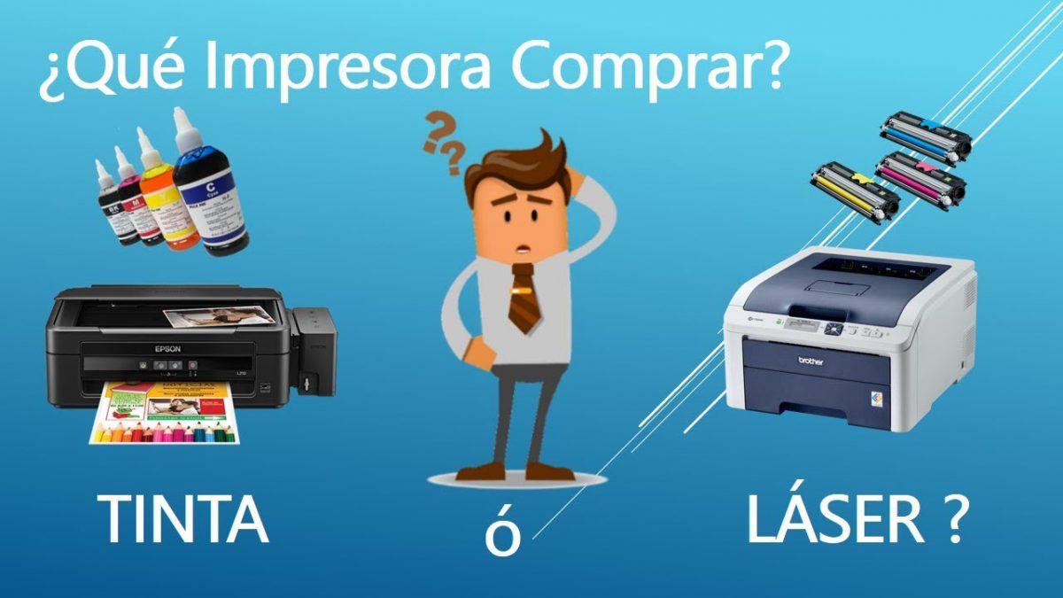 Impresora de tinta vs impresora láser