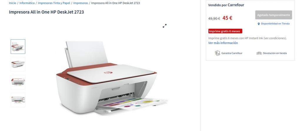 Precio Impresora All in One HP DeskJet 2723 Las mejores oferta