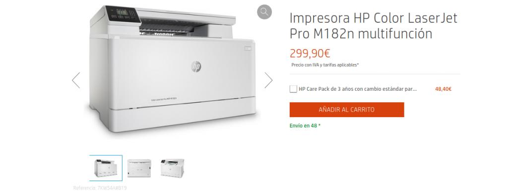 Precio Impresora HP Color LaserJet Pro M182n multifunción