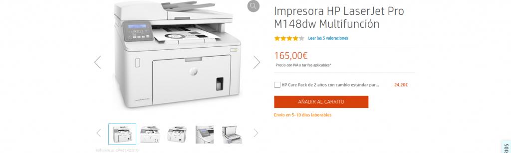 Precio Impresora HP LaserJet Pro M148dw Multifunción