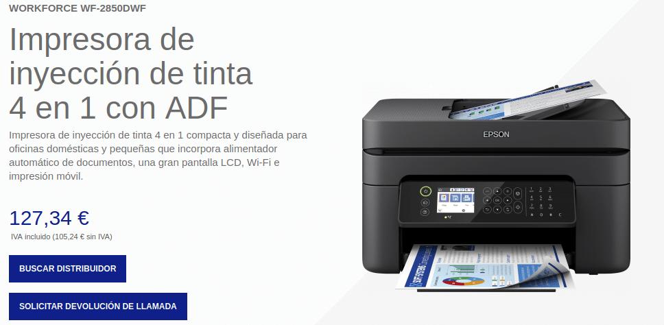 Precio Impresora Epson WorkForce WF-2850DWF