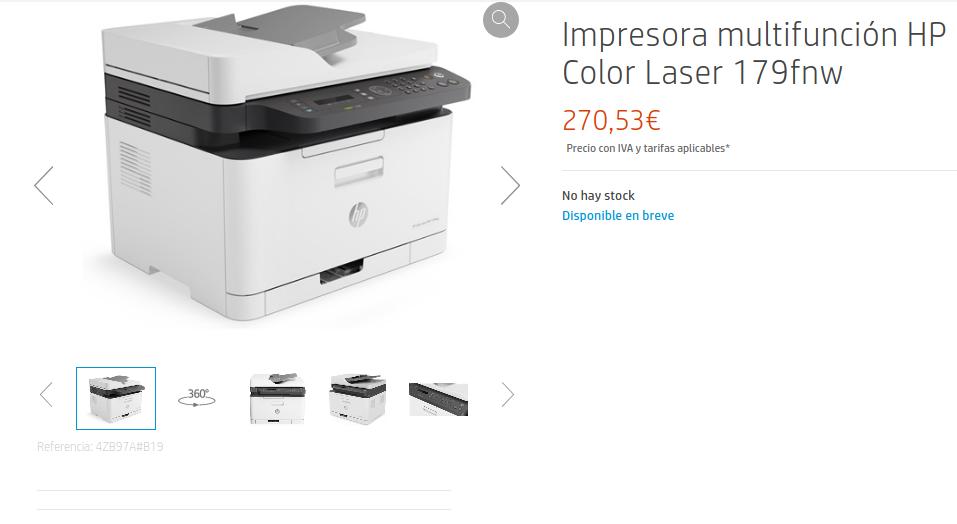 Precio Impresora multifunción HP Color Laser 179fnw
