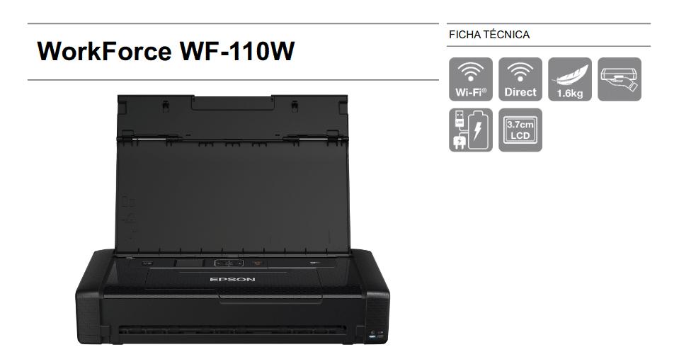 ficha técnica WorkForce WF 110W de Epson