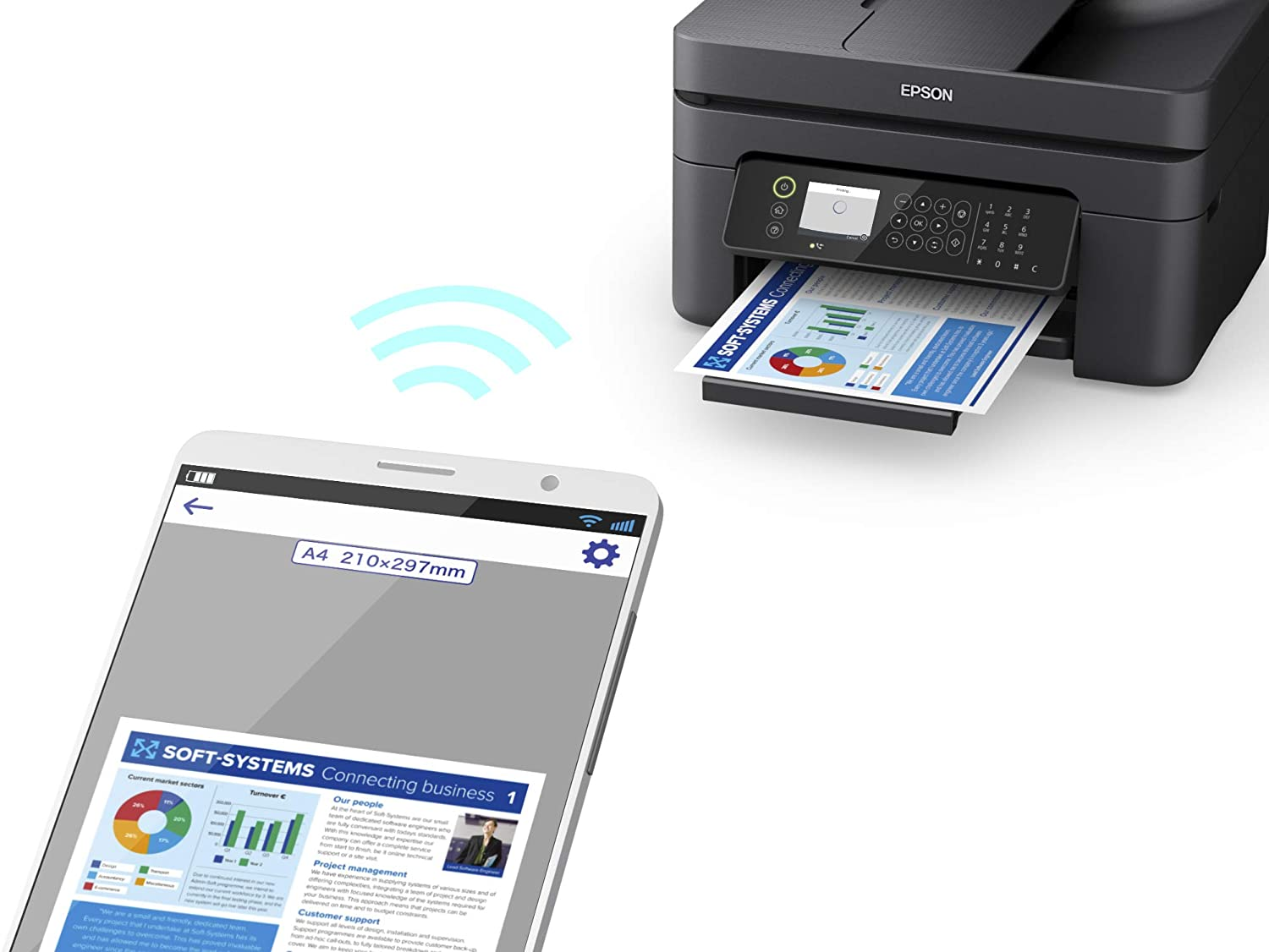 impresora epson workforce wf-2850dwf multifuncional wifi