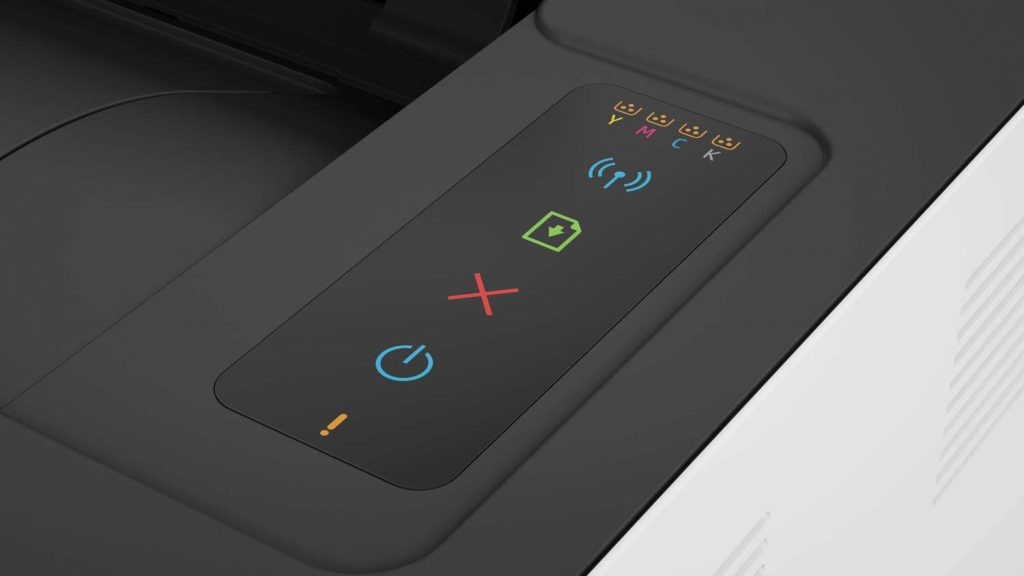 hp color laser 150nw botones