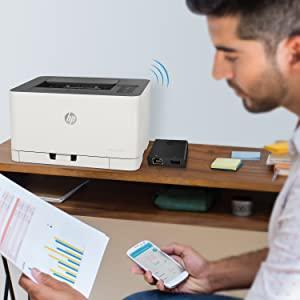 HP color láser 150nw wifi imprimir desde el móvil