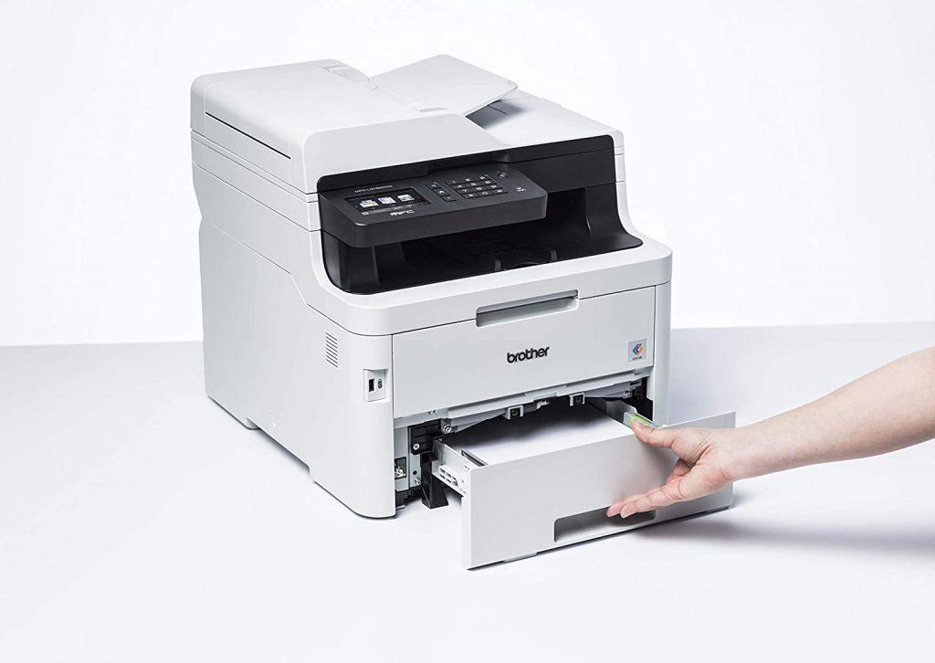 impresora Brother MFC L3750CDW bandeja de entrada de papel