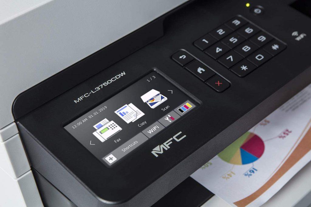 impresora Brother MFC-L3750CDW pantalla lcd