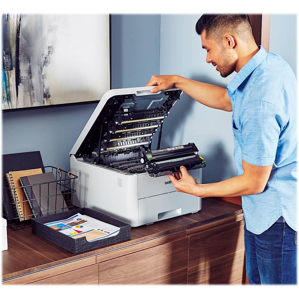 ¿Como cambiar el toner en una impresora Brother HL-L3210CW?