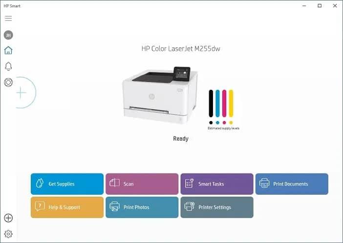 HP Color LaserJet Pro M255dw aplicacion hp smart