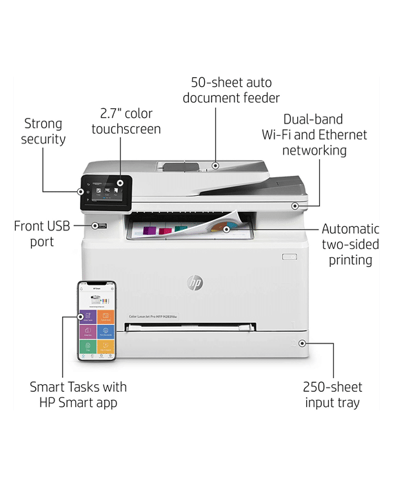 HP LaserJet Pro MFP M283FDW caracteristicas