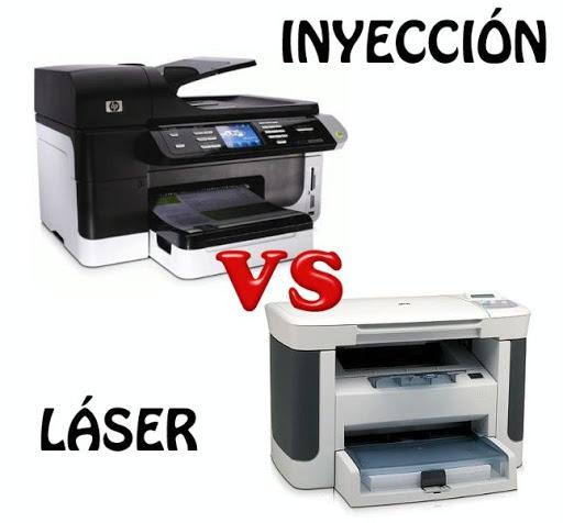 Impresora de tinta o impresora láser