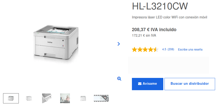 Precio Impresora Láser LED Color HL-L3210CW Brother
