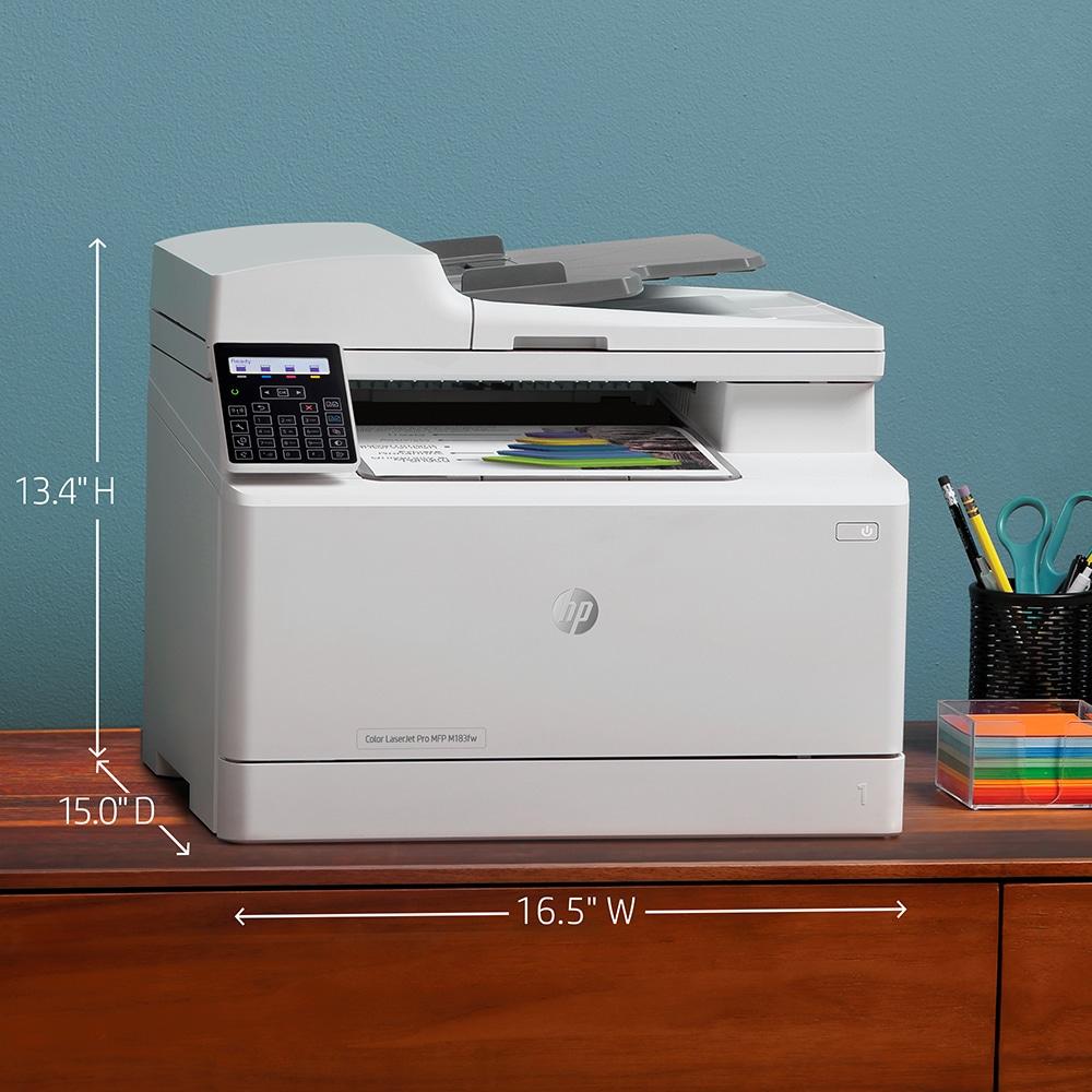 impresora multifuncion laser  hp color laserjet pro m183fw medidas