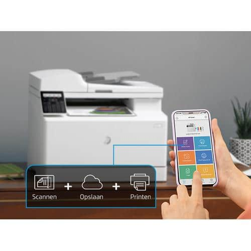 impresora hp color laserjet pro m183fw wifi impresion desde movil HP smart