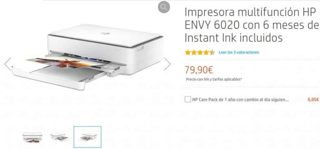 Precio Impresora multifunción HP ENVY 6022