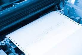 impresión en papel continuo con impresora matricial