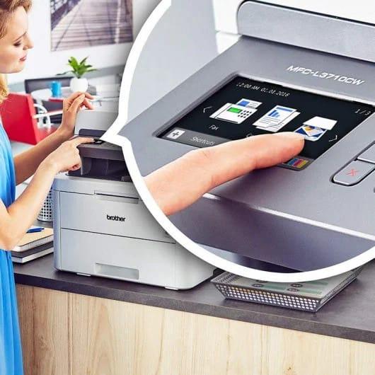 impresora brother mfc-l3710cw con pantalla tactil lcd