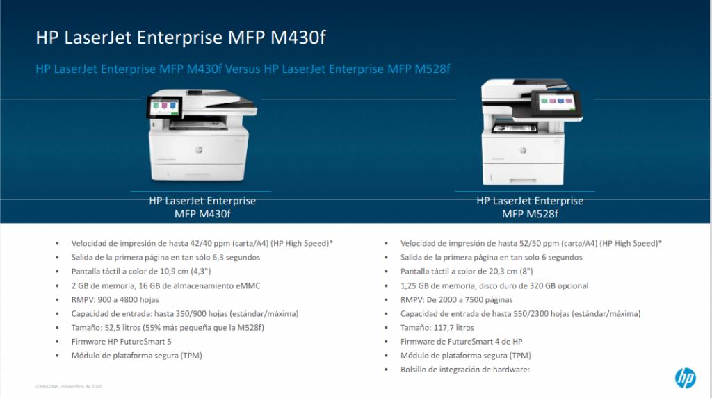 HP LaserJet Enterprise MFP M430f vs HP Laserjet Enterprise MFP M528F