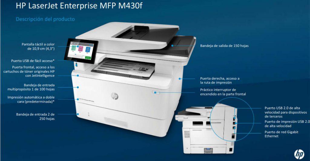 HP Laserjet Enterprise M430f caracteristicas