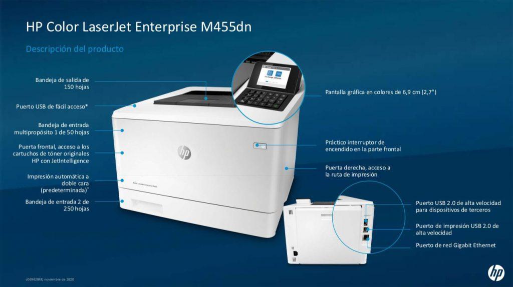 Impresora HP Color LaserJet Enterprise M455