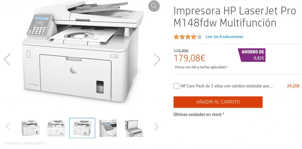Precio Impresora HP LaserJet Pro M148fdw Multifunción