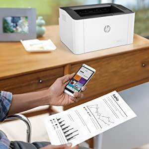 HP Laser 107w para imprimir desde el movil