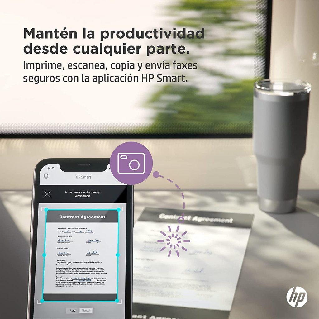HP Laserjet M209dw envía fax copia y escanea desde el móvil